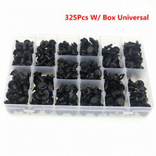 325Pcs Auto Fastener Bumper Clips Retainer Rivet Door Panel Fender Liner Repair