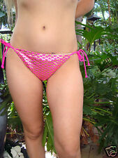 AUTHENTIC VICTORIA`S SECRET Mix n Match Bikini Bottom Metallic & Pink Size M
