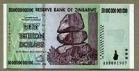 ZIMBABWE 50 TRILLION Dollar Banknotes AUTHENTIC GENUINE P90