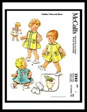 McCall's 2282 UNISEX Playsuit DRESS FROCK & SHORTS Toddler Sewing Pattern  ~~1~~