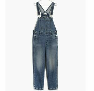 NWT Madewell by J.Crew Women's Straight-Leg Overalls in Hickory Wash Jumpsuit M