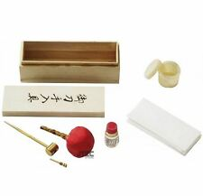 Japanese Katana Samurai Sword Cleaning Maintenance Oil Kit w/ Wooden Storage Box