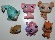 LPS Littlest Pet Shop Lot of 6 Different Animals, Dolphin, Pig, Spider, Capybara