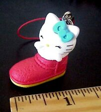 Hello Kitty in a Sneaker Tennis Shoe Mascot Plastic Cell Phone Strap /Key Chain