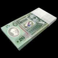 Lot 100 PCS, Uruguay 20 Pesos, 2020, P-New, Serie A, Polymer, Banknotes, UNC