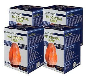 IndusClassic Natural Himalayan Crystal Rock Lamp Air Purifier 4~7 lbs Set Of 4