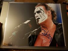 Sting The Icon Autographed Photo TNA Impact Wrestling HOF