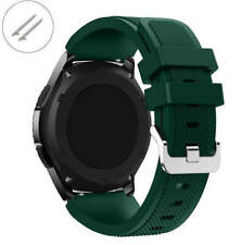 Army Military Green 22 mm Rubber Silicone Watch Band Strap Quick Release Pins 48