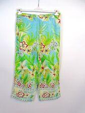 ANNE WEYBURN Designer Womens Casual Floral Summer Trousers Pants Plus sz 18 BG14