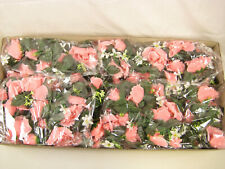 8x Wholesale Artificial Silk Flowers Large Pink Rose Garland with Buds Job Lot