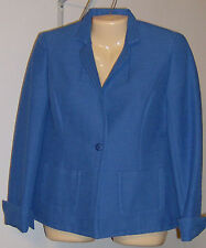 Jones New York Collection Jacket Size 8 Cobalt Blue New with Tag Cotton Silk