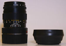 MINOLTA 90 F 4 M-ROKKOR  FOR LEICA M WITH ORIGINAL LENS HOOD
