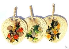 Fächer aus Bambus handgefochten 20x20 cm Floristik mit Gestecke günstig
