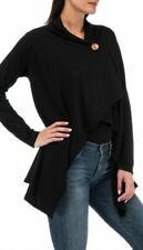 Bobeau One Button winter Fleece Wrap Rayon Spandex Cardigan PICK YOUR SIZE COLOR