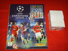 ALBUM FIGURINE PANINI CHAMPIONS LEAGUE 2009 2010 10 VUOTO + SET COMPLETO MINT
