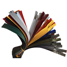Waterproof Coloured Zip No.5 Open & Closed End Zips #5 ''17 COLOURS - 14 SIZES''