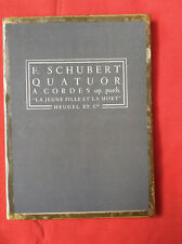 Heugel pocket music score, Schubert: Death & the maiden string quartet, D minor