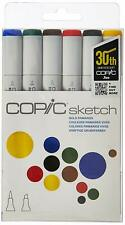 Copic Markers BOLD PRIMARIES 6-Piece Sketch Set Dual Tip Markers!