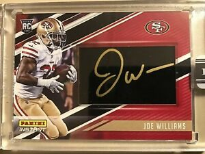 2017 Panini Instant Joe Williams #BF-21 1 Of Only 1 San Francisco 49ers