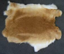 10 RABBIT SKIN NATURAL LIGHT BROWN fur pelt bunny soft craft supply rabbits