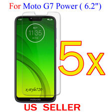 "5x Clear LCD Screen Protector Guard Cover Film For Motorola Moto G7 Power (6.2"")"