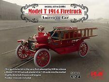 ICM 1/24 Model T 1914 Firetruck American Car # 24004