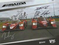2016 Mazda Motorsports P2 signed Rolex 24 IMSA WTSC postcard 6 Drivers