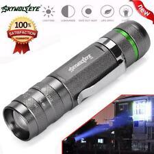 5000LM Zoomable CREE XM-L Q5 LED 18650 Flashlight Torch Super Bright Light UK