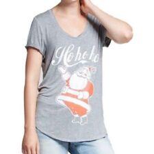 Fifth Sun Womens HO HO HO Gray T Shirt Size L NWT