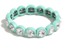 J Crew Factory - Women's - NWT - Turquoise Blue Crystal Bubble Stretch Bracelet