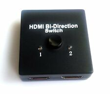XU v1.4 1x2 HDMI Bi-Directional Switch Splitter Support 3D 1 in 2 out 2 in 1 out