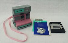 VINTAGE RARE PINK Polaroid Supercolor Esprit 635 Photo Camera + Original Manual