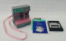 VINTAGE RARE ROSA Polaroid Supercolor Esprit 635 foto videocamera + MANUALE ORIGINALE