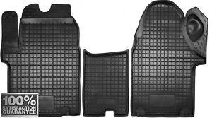 Rubber Carmats for Opel Vivaro 2001-2014 All Weather FRONT 3 pcs /set Floor Mats