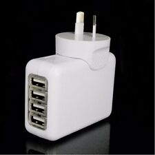 4 USB Port AC Power Travel Home Wall Charger Adapter AU Plug For Smartphone (AU)