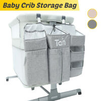 Baby Bed Crib Hanging Storage Bag Toy Diaper Pocket Bedside Organizer