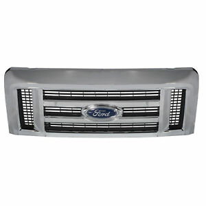 """OEM NEW Front Grille & Emblem """"Ford"""" Chrome 08-17 E-Series Super Duty 9C2Z8200AA"""