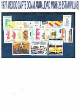 COMPLETE 1977 MEXICO  Complete Commemorative Year MNH (26 Stamps)
