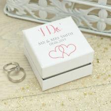 Personalised **I Do** White Wedding Ring Box