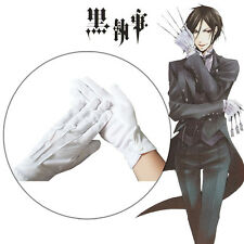 Sebastian Yuichiro Hyakuya Mikaela Cosplay White Gloves With Button Accessary