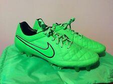 Da Uomo Nike Tiempo Legend V FG Green Strike Calcio Boost esaurita UK 11.5