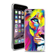 Coque Housse Iphone 7 + Verre Trempé 9 H - Motif Lion