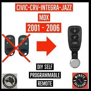 FITS HONDA INTEGRA CRV CR-V JAZZ MDX REMOTE CONTROL FOB  2002 2003 2004 2005