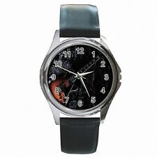 Electric Guitar Guitarist Rock Music Leather Watch New!