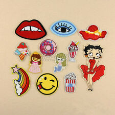 12Pcs Embroidery Eye rainbow Sew Iron On Patch Badge Bag Clothes Fabric Applique