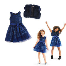 American Girl CL MY AG HAPPY HOLIDAY DRESS W/ SHRUG SIZE 7 for Girl Blue NEW