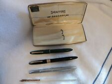 Vintage Sheaffer'S Snorkel Fountain Pens (3) Seamless Mother Of Pearl Pen