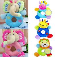 EE_ NE_ Baby Kid Child Plush Soft Stuffed Animal Hand Bell Wrist Rattle Educatio