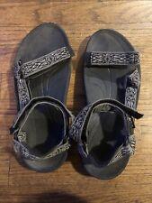 Teva Hurricane Mens Sport Sandals Black Gray Adjustable Straps Size 10 S/N 6584
