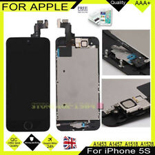 For iPhone 5S Touch Screen LCD Display Digitizer Home Button Black High Quality
